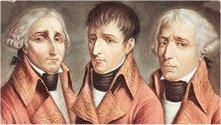 كنسولهاي سه گانه ـ ناپلئون نفر وسط